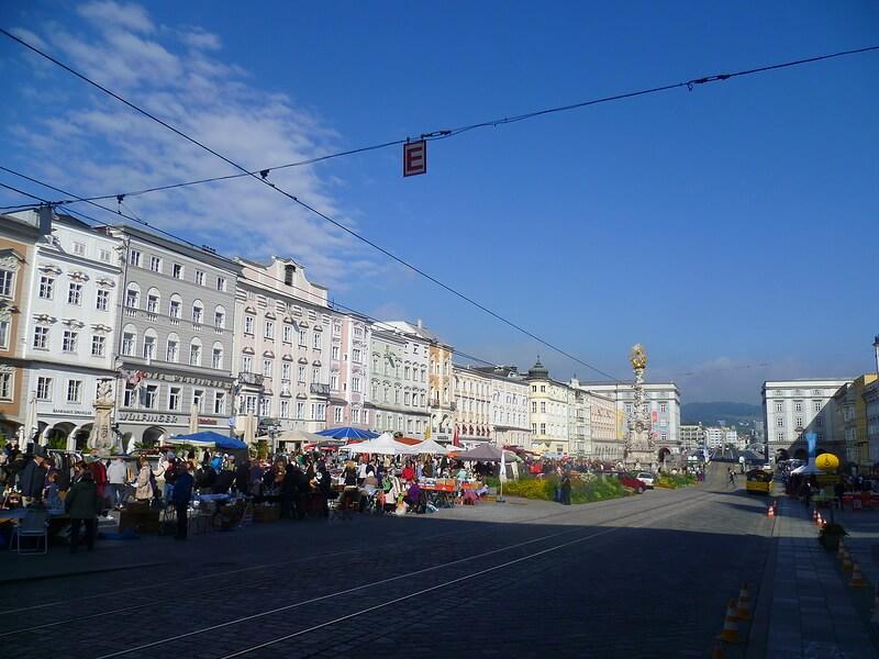 линц австрия Главная площадь